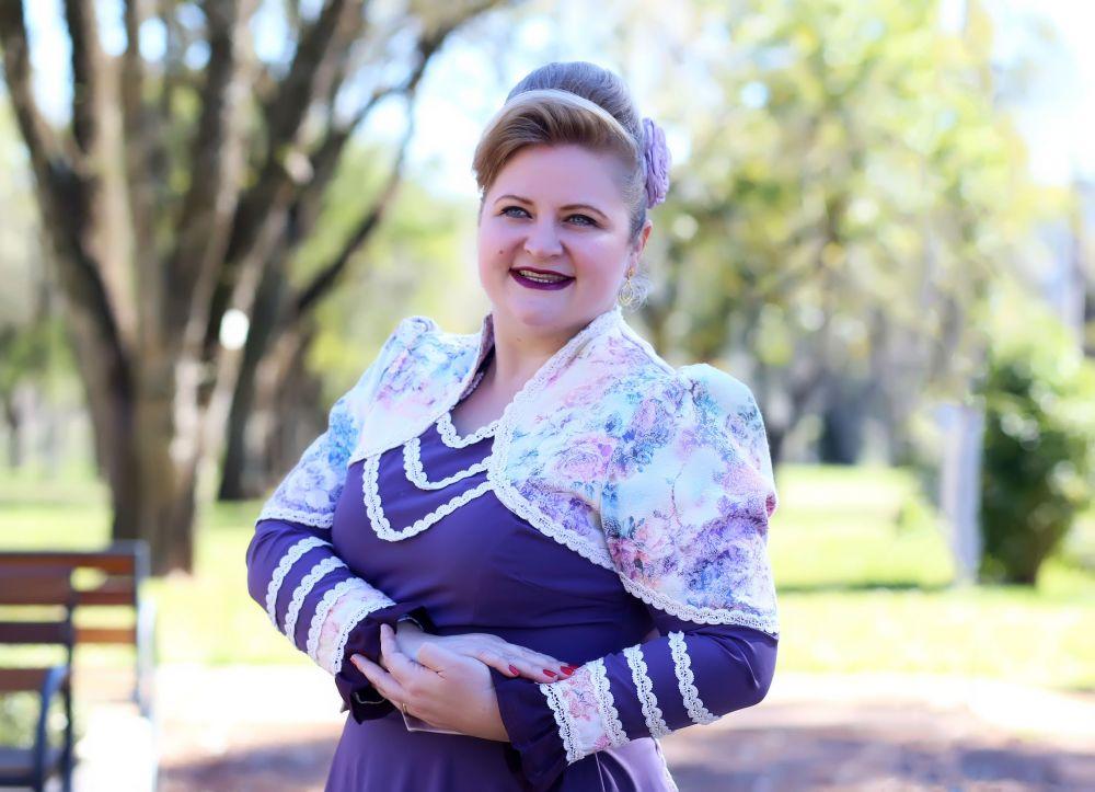 Instrutora e coreógrafa de Danças Tradicionais Gaúchas, Gianna Kettner de Carvalho